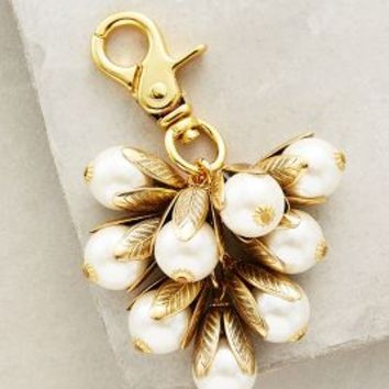Lenora Dame Pearled Snowdrop Keychain in White Size: One Size Bags