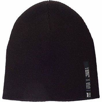 Neff Mens Manz Beanie Hat, Black, One Size