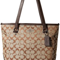 Coach 12cm Signature Zip Top Tote