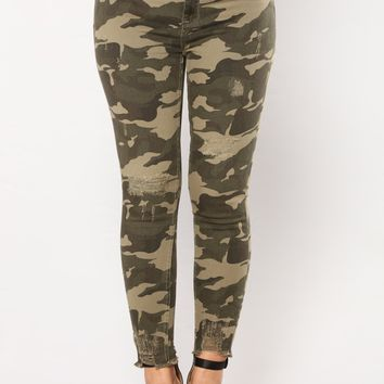 Looking Like A Snack Skinny Jeans - Camo