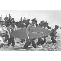 GENERAL MACARTHUR returns to the PHILIPPINES surfing photo poster 24X36 NEW