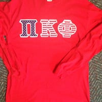 Pi Kappa Phi Large Long Sleeve Shirt with Greek Letters - Ready to Ship!