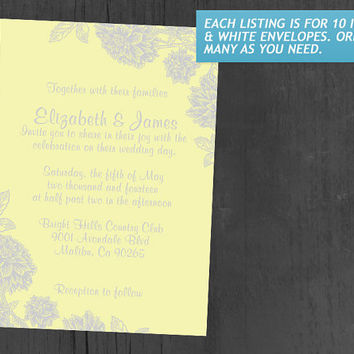 Elegant Yellow Wedding Invitations | Invites | Invitation Cards