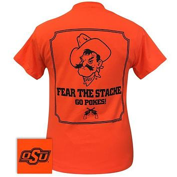 Oklahoma State University OSU Fear The Stache T-Shirt
