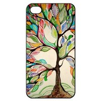 Love Tree Hard Back Shell Case Cover Skin for Iphone 4 4g 4s Cases - Black/white/clear