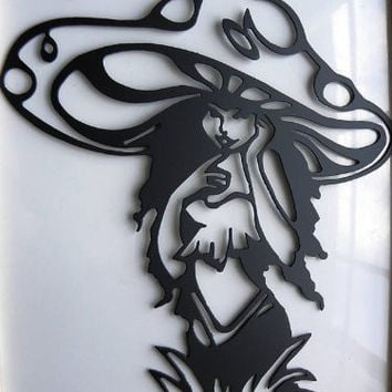 Mushroom Fairy Metal Wall Art Home Decor