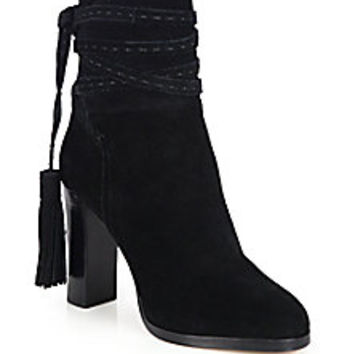 Michael Kors Collection - Palmer Suede Tassel Ankle Boots - Saks Fifth Avenue Mobile