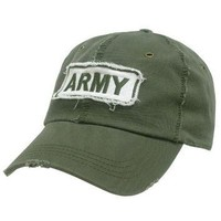 Vintage Military Polo Cap - ARMY