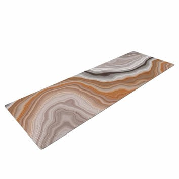 "KESS Original ""Burnt"" Orange Geological Yoga Mat"