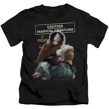 Fantastic Beasts 2 Boys T-Shirt Creature Pile Up Black Tee