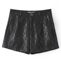 Floral Printed Empire Tight Shorts in Black or Pink