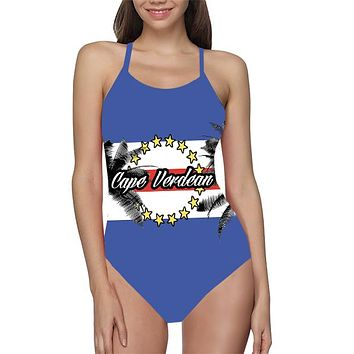 Cape Verdean Flag Bathing Suit