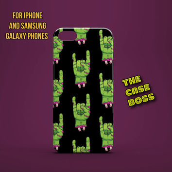 ZOMBIE ROCK ON Design Custom Phone Case for iPhone 6 6 Plus iPhone 5 5s 5c iphone 4 4s Samsung Galaxy S3 S4 S5 Note3 Note4 Fast!