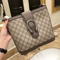 Gucci Fashionable Women Shopping Bag Leather Handbag Tote Shoulder Bag Crossbody Satchel
