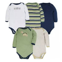 2016 New Baby Bodysuits 5PICS/LOT Cotton Soft Baby Girls Boys Clothes Long Sleeve Children Jumpsuit Newborn Body Next Coveralls