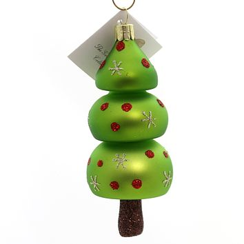 Golden Bell Collection MOD CHRISTMAS TREE Glass Ornament Grinch Nvv064