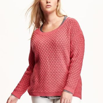 Old Navy Womens Plus Popcorn Stitch Sweater
