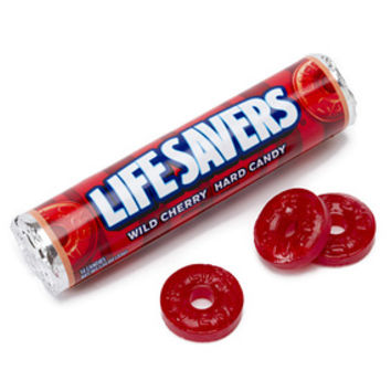 Life Savers Hard Candy Rolls - Wild Cherry: 20-Piece Pack