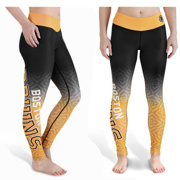 Boston Bruins Womens Gradient Print Leggings