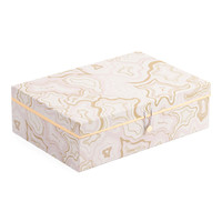 Medium Marble Lidded Storage Box - Glam - T.J.Maxx