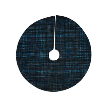 "Trebam ""Platno (Black And Blue)"" Black Blue Digital Christmas Tree Skirt"