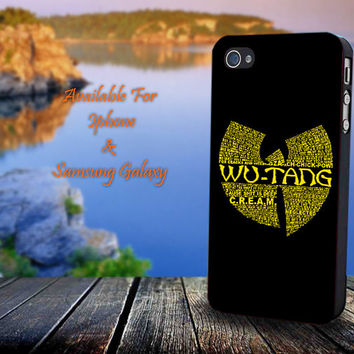Wu-Tang Clan - Print on hard plastic for iPhone case. Please choose the option.