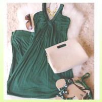 Beautiful Green Maxi Dress