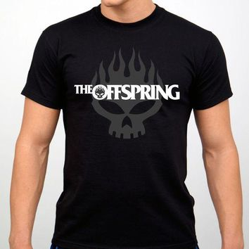 CREYXT3 The Offspring Rock Band T-shirt Black New Casual Man Tees Mens Tops Tops O-Neck T Shirts Interesting Pictures Plus Size