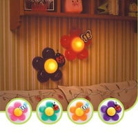 Bright color Baby Nursery Room Decor Bedside Flower LED Touch Lamp Night Light !