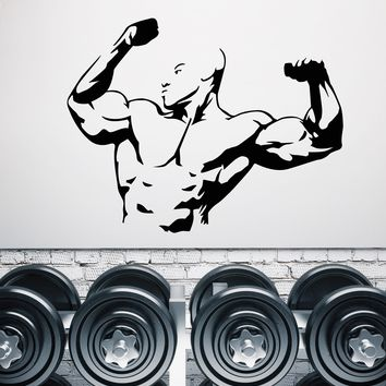Large Vinyl Decal Wall Sticker Extreme Sport Body Building Fitness Gym Decor (n854)