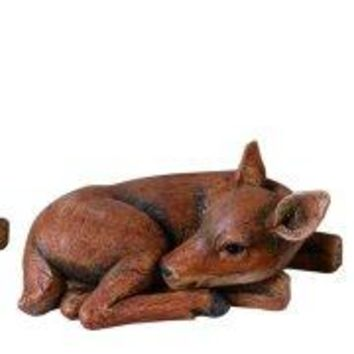 Resin Fawn Figurine Set of 3 Baby Deer Indoor/Outdoor Statues P0269