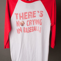 "Gina ""There's No Crying in Baseball"" Tee"