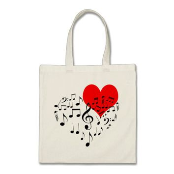 Singing Heart one-of-a-kind funny Tote Bag