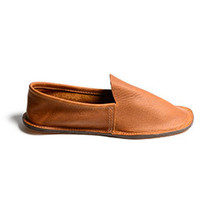 Leather House Shoes (Brown)
