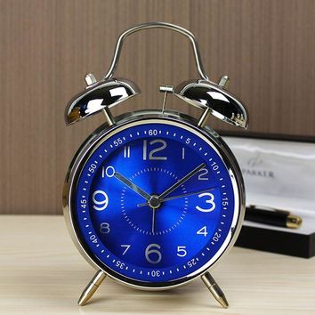 4 Inch Ultra-Stille Classic Alarm Clock Retro Double Bell