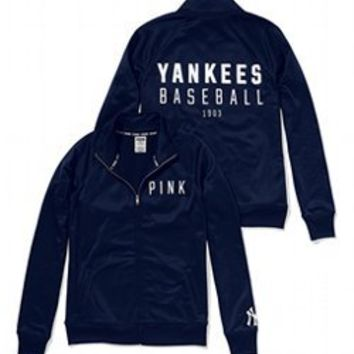 New York Yankees Track Jacket - PINK - Victoria's Secret