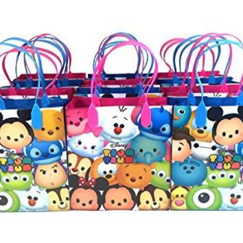 Disney Tsum Tsum Mickey Minnie Stich 12pc Goodie Bags Party Favor Bags Gift Bags Birthday Bags