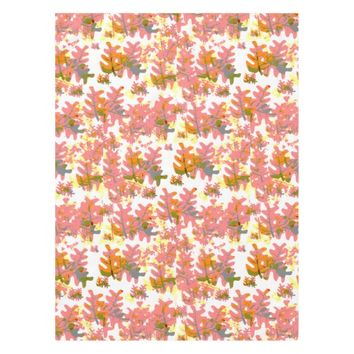 Shades of Orange Fall Colored Leaves Pattern Tablecloth