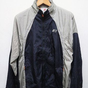 15 sales vintage new balance jacket windbreaker silver dark blue m