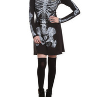 Teenage Runaway Rib Cage Long-Sleeved Dress