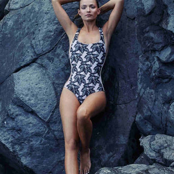 Acacia Swimwear || Ipanema one piece in black elephant