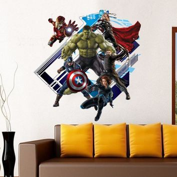 Disney Kids DIY 3D sticker The Avengers Children's room decoration kindergarten stickers cartoon pegatinas autocollant enfant