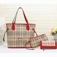 Burberry Women shopping shoulder bag female inclined shoulder bag red three piece G-3A-XNRSSNB