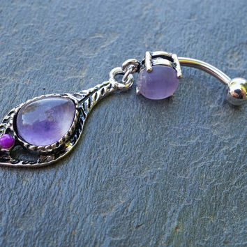 Amethyst Belly Button Rings