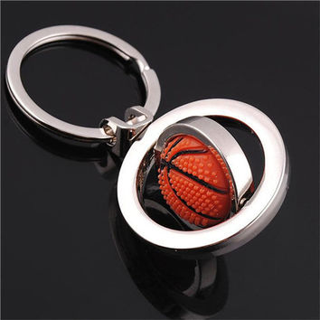s 3D Sports Rotating Basketball football soccer Keychain Keyring Ring Key Fob Ball Gifts For Men  SM6
