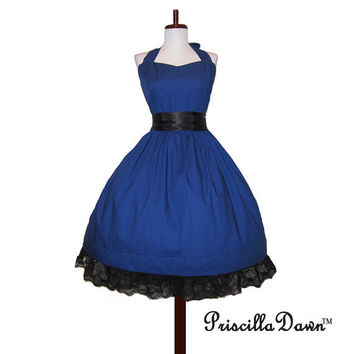 Made to order Classy Blue Swing Dress by priscilladawn on Etsy