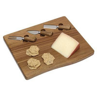 Acacia Cheese Board With 3 Tools