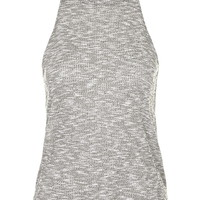 Ribbed '70s High Neck Top - Topshop