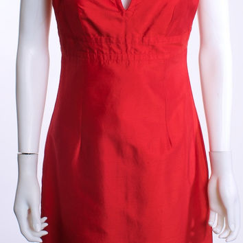 TRINA TURK LOS ANGELES RED SILK DRESS SIZE 4