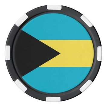 Poker chips with Flag of Bahamas